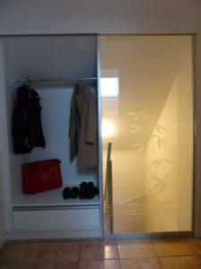 Schiebetür Windfang-Garderobe Wohnung